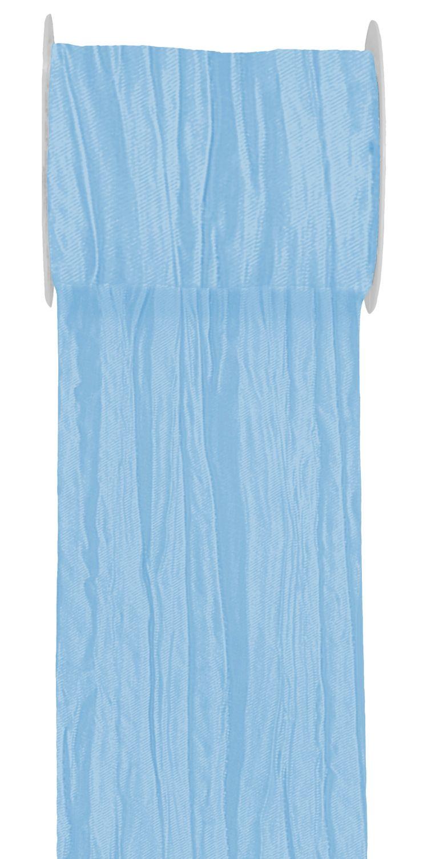 15m Fripe Taft 100mm Tischläufer Hellblau Blau Petrol Flieder Tischdeko Kommunion Konfirmation