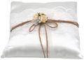Ringkissen Vintage Creme Rosen Hochzeit Tischdeko Braut Traukissen Ringe 2