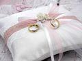 Ringkissen MARINA Vintage Weiß Rosa Hochzeit Braut Traukissen Ringe 3