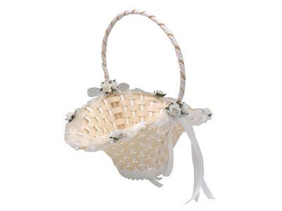 Blumenkörbchen Streukörbchen Weiß