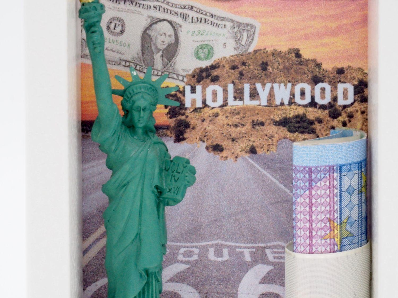 Geldgeschenk Verpackung Klein Reise USA Amerika Geschenk Geburtstag