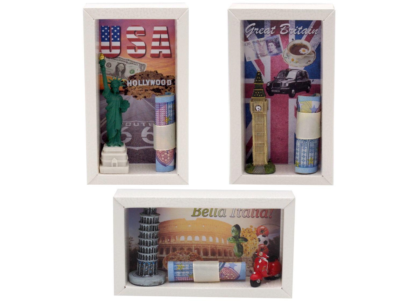 Geldgeschenk Verpackung Klein Reise USA England Italien Geschenk Geburtstag