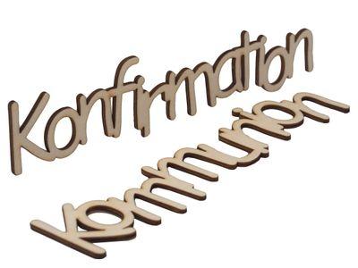 Schriftzug Holz Kommunion Konfirmation