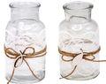 2 Vasen Kommunion Konfirmation Tischdekoration Fisch Vintage Deko LUKAS Spitze  1