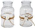 2 Vasen Hochzeit Vintage Tischdeko Spitze Weiß MIRA 1