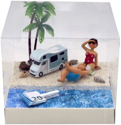 Geldgeschenk Verpackung Wohnmobil Camping