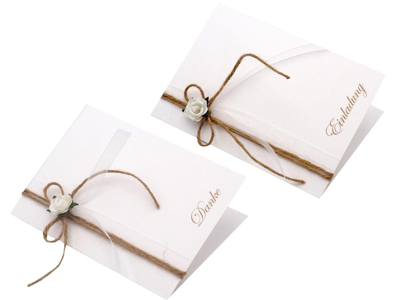Karte Einladung Danke Hochzeit Vintage Natur Rose Hochzeitskarte Dankeskarte Einladungskarte Doppelkarte