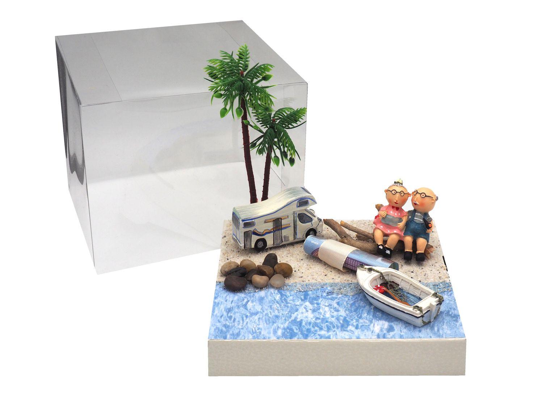 Originelle Geldgeschenk Verpackung für Senioren, die gerne auf Reisen gehen