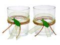 2x Teelichtglas Kommunion Konfirmation Grün Fisch JONAS  001