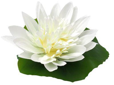 Kunstblume Seerose Wasserpflanze Kunstpflanze Teichpflanze Deko Balkon Garten Schwimmpflanze