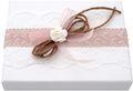 Geldgeschenk Verpackung Weiß Rosa Vintage Hochzeit Hochzeitsreise Geburtstag MARINA 2