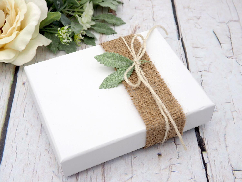 Geldgeschenk Verpackung Vintage Jute Blatt Hochzeit Geburtstag Geschenkidee