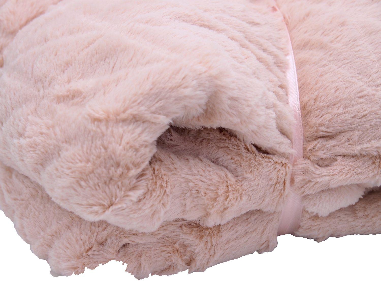 Kuscheldecke Decke Fleecedecke Wohndecke Rosa 120x160 cm Deko Pastell