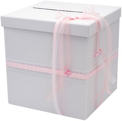 Briefbox Rosa Taufe Geburt Baby