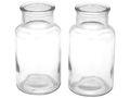 2 Vasen Flaschen Glas Tischdeko Basteln 001