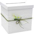 Briefbox JENNY Hochzeit Vintage Kartenbox Geldgeschenk Weiß Grün Spitze 1