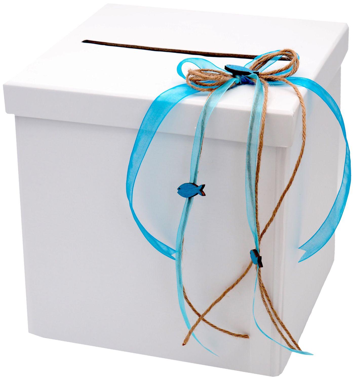 Briefbox Blau Kommunion Konfirmation Kartenbox Geldgeschenk ISAAK
