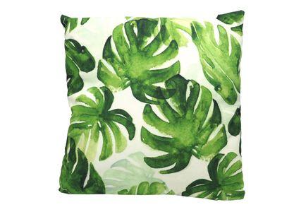 Kissen Blätter Tropen Urwald Sommer Deko Garten