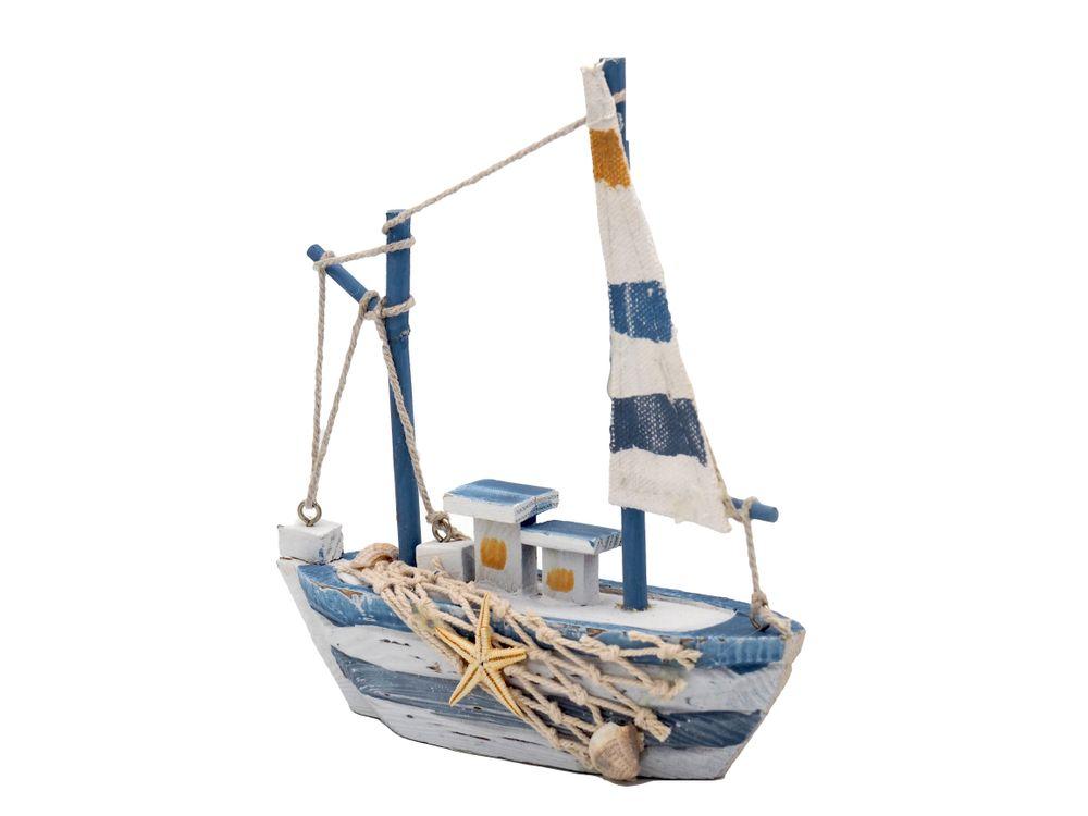 dekofigur schiff holz maritim kutter see meer deko sommer ebay. Black Bedroom Furniture Sets. Home Design Ideas