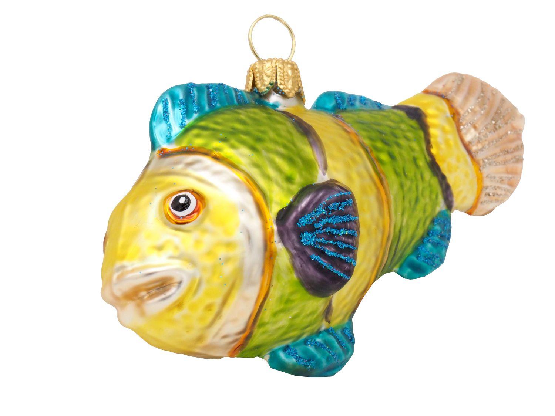 Fisch Bunt Christbaumschmuck Weihnachten Glas Weihnachtsbaumschmuck Anemonenfisch