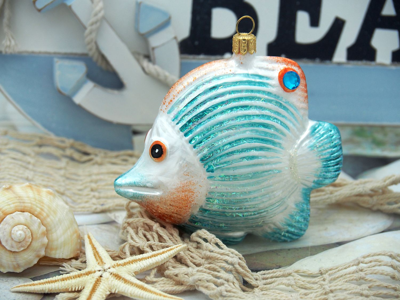 Falterfisch Fisch Christbaumschmuck Weihnachten Glas Weihnachtsbaumschmuck