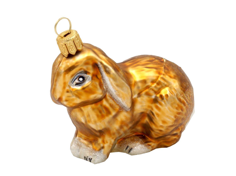 Hase Kaninchen Braun Christbaumschmuck Weihnachten Glas Weihnachtsbaumschmuck