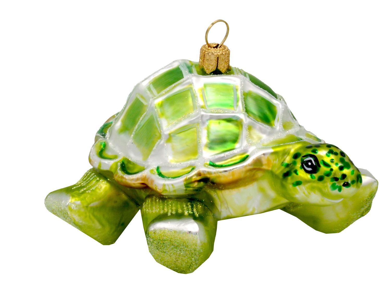 Schildkröte Grün Christbaumschmuck Weihnachten Glas Weihnachtsbaumschmuck
