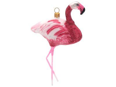 Flamingo Vogel Christbaumschmuck Weihnachten Glas