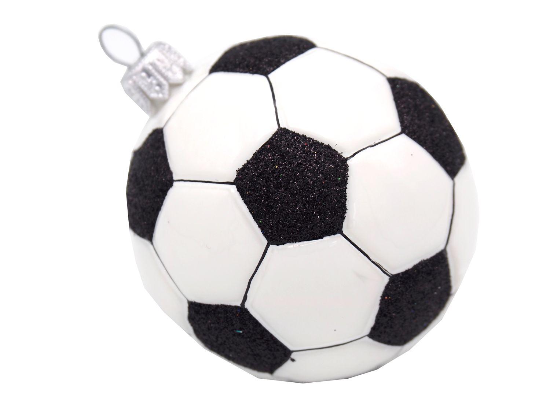 Fussball Ball Christbaumschmuck Weihnachten Glas