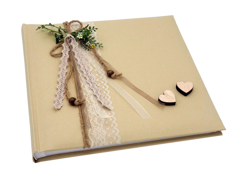 g stebuch album fotoalbum hochzeit vintage natur taupe hochzeit briefboxen karten alben. Black Bedroom Furniture Sets. Home Design Ideas