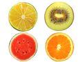 Stuhlkissen Sitzkissen Zitrone Kiwi Melone Orange 1