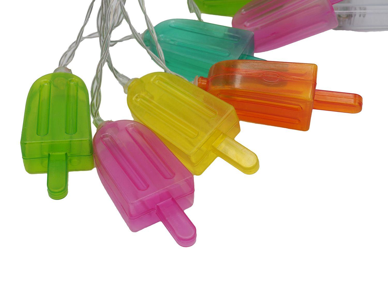 LED Lichterkette Eis am Stiel Sommer Party Garten Geburtstag