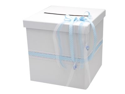 Briefbox Blau Taufe Geburt Baby