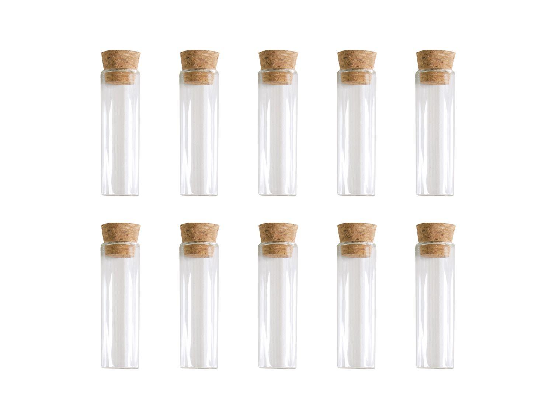 10 Glasröhrchen 5cm mit Korken Reagenzglas Gastgeschenk Hochzeit Taufe Kommunion Konfirmation Glas
