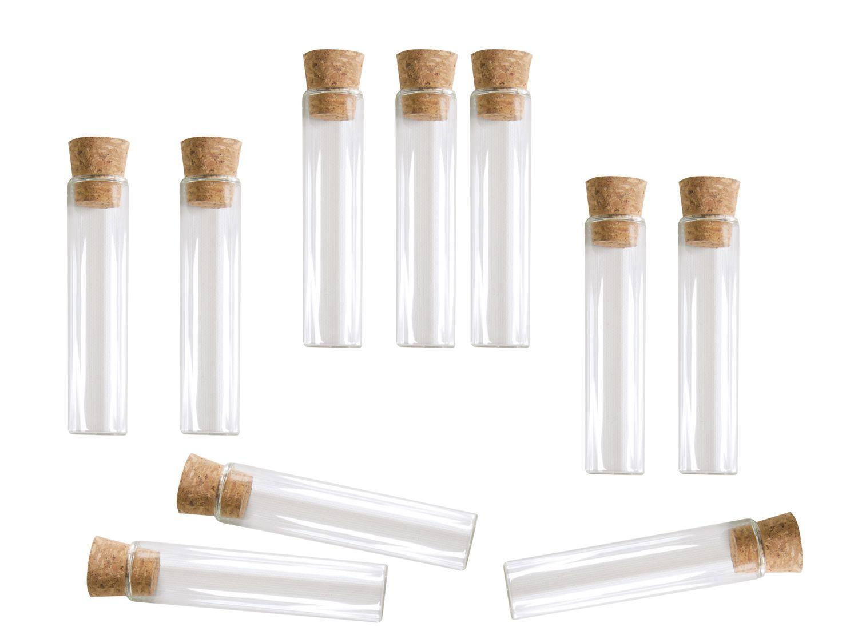 10 Glasröhrchen 10cm mit Korken Reagenzglas Gastgeschenk Hochzeit Taufe Kommunion Konfirmation Glas