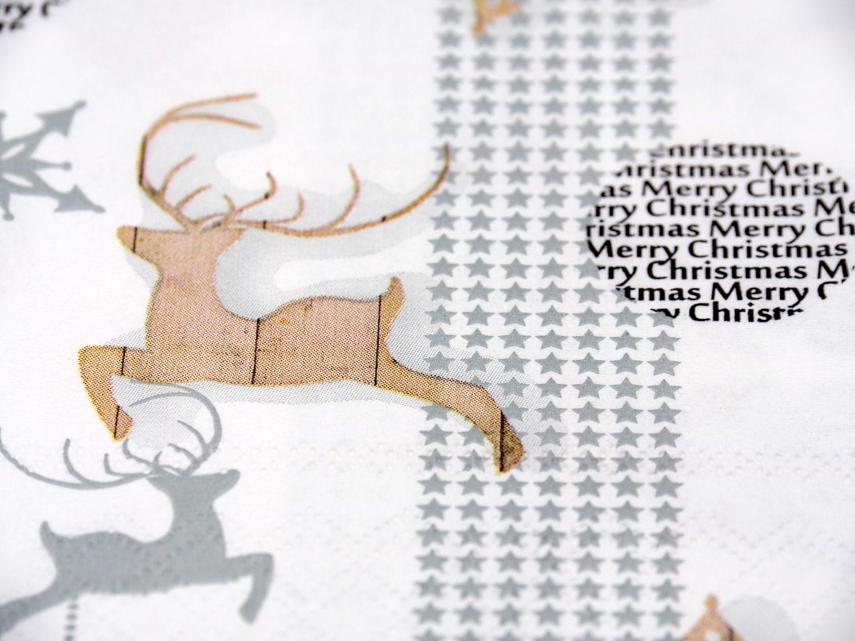 20 Servietten Weihnachten Rentier Tischdeko Deko