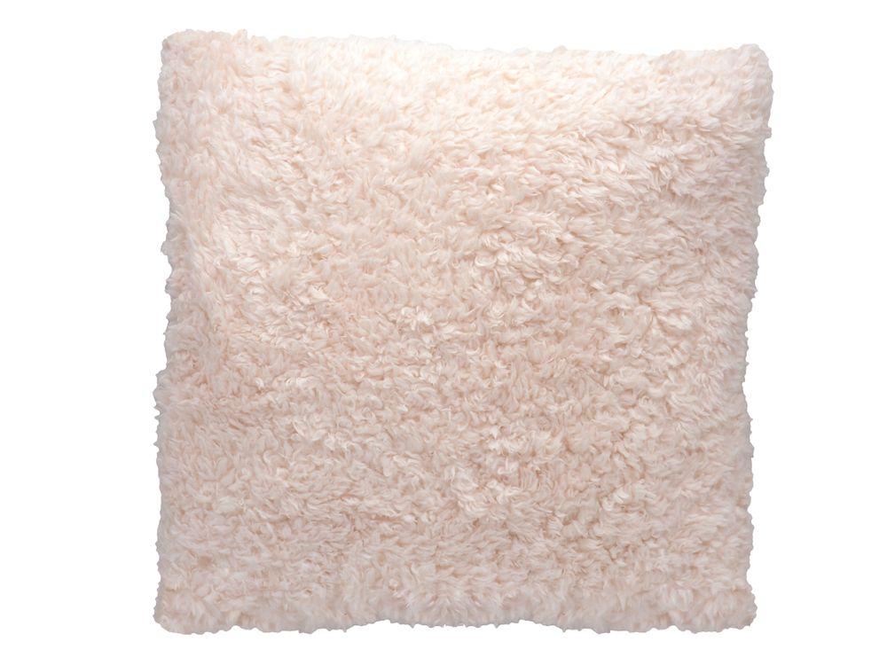 kuschel kissen 40x40cm flauschig wei zartrosa beige. Black Bedroom Furniture Sets. Home Design Ideas
