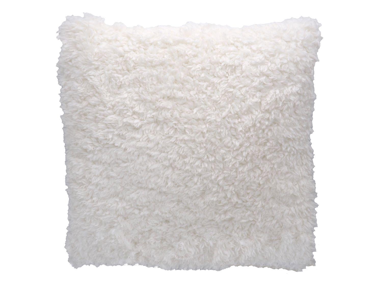 Kuschel Kissen 40x40cm Flauschig Weiß Kuschelkissen Wohnzimmer