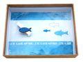 Geldgeschenk Verpackung ISAAK Fisch Blau Türkis Petrol Kommunion Konfirmation Geschenk Gutschein 5