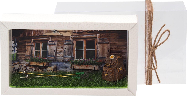 Geldgeschenk Verpackung Wandern Rucksack Reise Urlaub Hütte Gutschein Berghütte