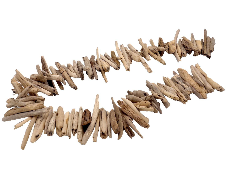 Windspiel Girlande Wandschmuck Treibholz Holz Garten Bad Tischdeko Deko Maritim