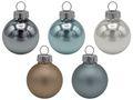 45 Weihnachtskugeln Christbaumkugeln Blau Taupe Greige Silber Christbaumschmuck Weihnachtsdeko Weihnachten Deko 1
