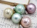 45 Weihnachtskugeln Christbaumkugeln Mint Rosa Creme Pastell Christbaumschmuck Weihnachtsdeko Weihnachten Deko 5