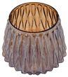 Teelichtglas Kerzenglas Braun Herbst Weihnachten Deko Tischdeko 2