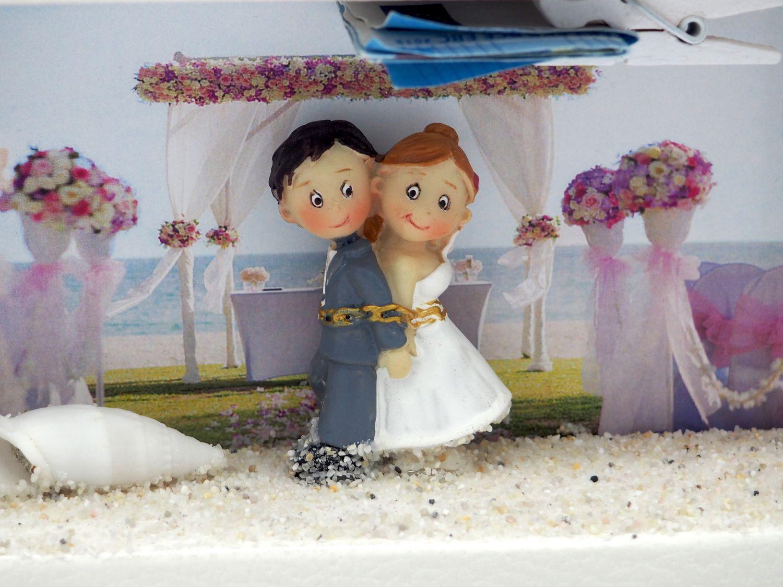 Geldgeschenk Verpackung Hochzeit Hochzeitsreise Strandhochzeit Urlaub Gutschein Geschenk Flitterwochen