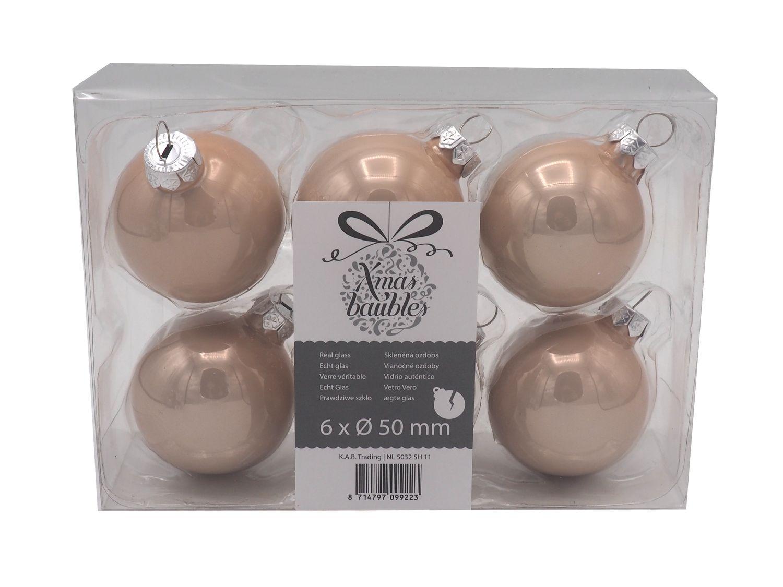 6 Weihnachtskugeln Christbaumschmuck Mint Rosa Ø 5cm Weihnachten Baumschmuck Kugel