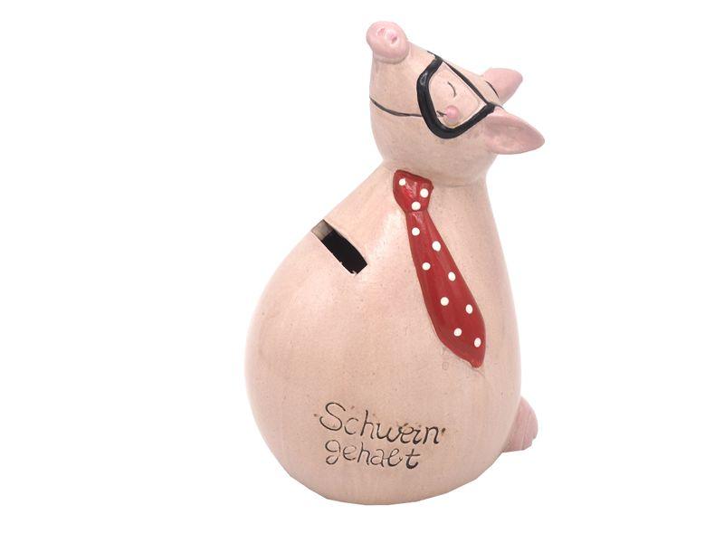 Sparschwein Spardose Sparbüchse Schwein Rosa Lustig Schwein gehabt