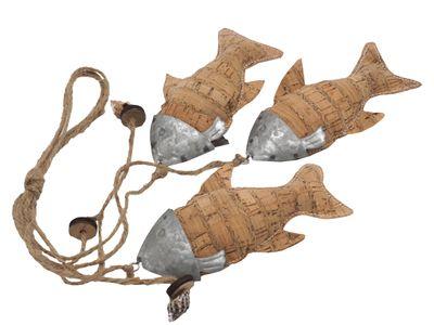3 Fische Aufhänger Kork am Band Kommunion Konfirmation