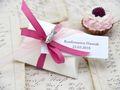 10x Gastgeschenk Fisch mit Namen Bedruckt Pink Personalisiert Taufe Kommunion Konfirmation 24