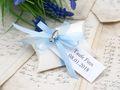 10x Gastgeschenk Fisch mit Namen Bedruckt Hellblau Personalisiert Taufe Kommunion Konfirmation 11